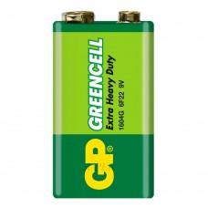 Батарея солевая GP 1604G-S1 Greencell (6F22), 9В, Крона