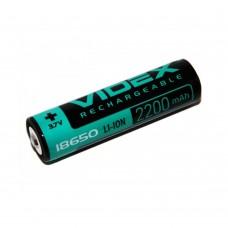 Аккумулятор 18650 Videx, 3.7V 2200mAh (с защитой)