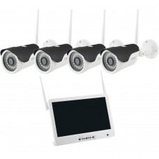 Беспроводной Wi-Fi комплект видеонаблюдения DVR KIT Full HD UKC CAD-1304 LCD на 4 камеры
