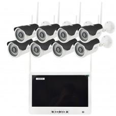 Беспроводной Wi-Fi комплект видеонаблюдения на 8 камер покупай по низкой цене
