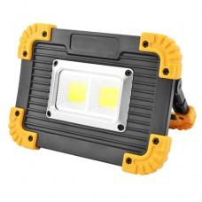 Прожектор светодиодный автономный L812-20W-2COB+1W покупай по низкой цене